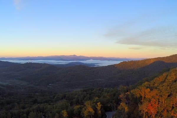 poplar ridge community sunset
